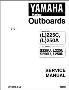 Yamaha 225 250 L225 L250 2-Stroke Outboard Motor Service