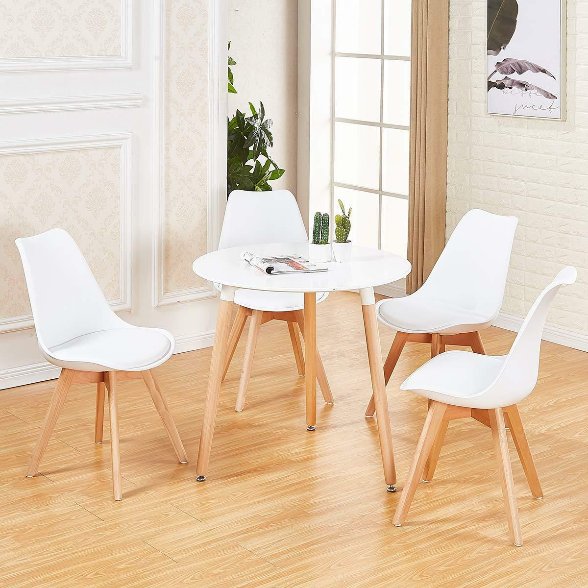 White Wooden Dining Chairs Details About White Round Dining Table And 4 Retro Dining Chairs Solid Wood For Small Kitchen
