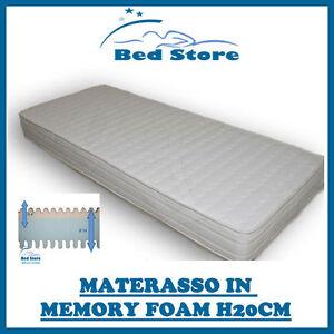MATERASSO ALTA QUALITA LETTO MEMORY FOAM H20 160X190 CM ANALLERGICO ECONOMICO  eBay