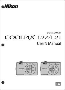 Nikon CoolPix L21 L22 Digital Camera User Guide