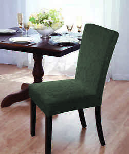 stretch dining chair covers pad wedding clearance damask velvet cover forest comes image is loading