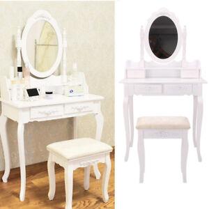 coiffeuse table de maquillage stockage miroir chambre vanite