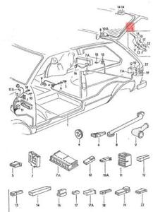 Genuine VW Wiring Harness For Rear Windoow Wiper Motor NOS