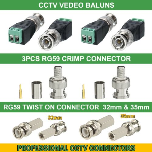 small resolution of details about cctv bnc coax crimp video rca phono rg59 balun utp cat5 connector joiner coupler