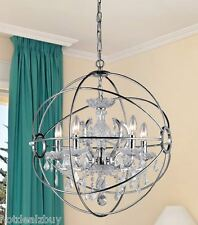 Modern Crystal Chrome Chandelier Dining Room Light Orb Ball Contemporary Silver