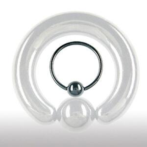 7mm Schwarz Klemmkugel Ring Intim Brust Ohr Piercing Schmuck