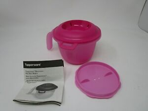 details about tupperware individual microwave rice maker small steamer cooker 6972 pink new