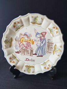 details sur ancienne assiette decorative murale faience signee leo grilli gubbio