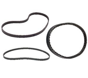 Set of 2 Serpentine Belts and 1 Accessory Drive Belt For