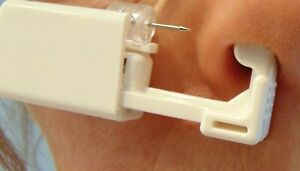 Sterile Nasen Piercing Pistole + Zirkon Nasen Stecker Klar 1,6 mm Schmerzlos