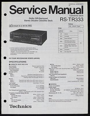 Technics RS-TR333 Original Cassette Deck Service Manual