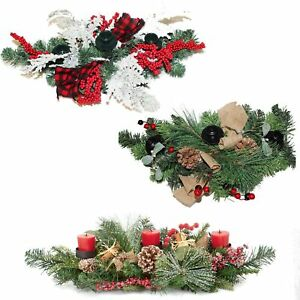 Premier Christmas Table Centrepiece Decoration 60cm Choose Design Ebay