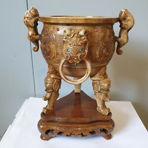 large chinese censer Incense Burners Ding 19th