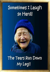 Funny Old Lady Pics : funny, MAGNET, Humor, Laugh, Laughing, Woman, Funny, Saying, Little, Tears, Running
