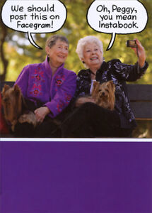 Old Ladies Funny Pics : ladies, funny, Ladies, Bench, Recycled, Paper, Greetings, Funny, Birthday, 42823618086