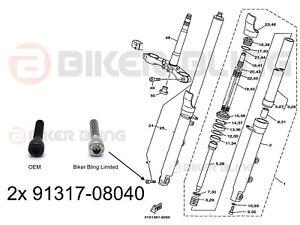 2x Yamaha TDM 850 1996-2001 stainless steel fork axle