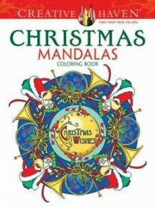 Christmas Mandalas : christmas, mandalas, Creative, Haven, Coloring, Bks.:, Christmas, Mandalas, Marty, Noble, (2014,, Trade, Paperback), Online
