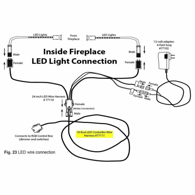 Firegear 77111 6-pin LED Extension Controller Wire Harness