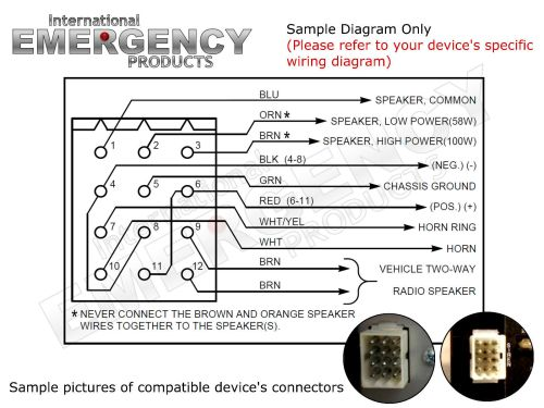 small resolution of 12 pin connector plug harness power cable for federal signal siren pa 300 ss2000
