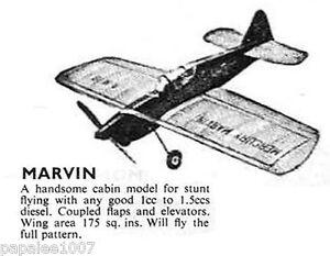 Model Airplane Plans (UC): Mercury MARVIN 30