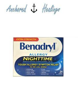 Benadryl Allergy Nighttime Extra Strength Diphenhydramine ...