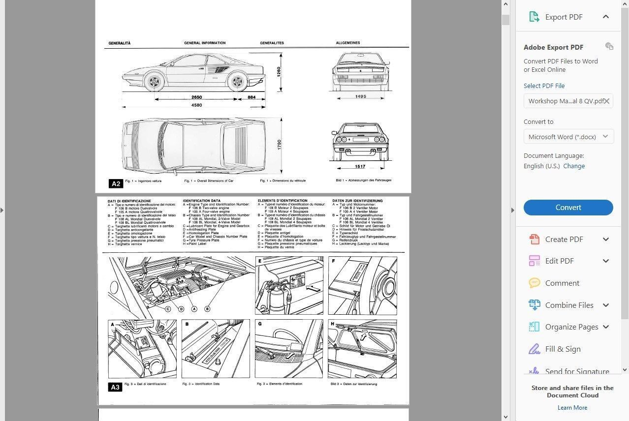 hight resolution of factory workshop service repair manual ferrari mondial t qv 1980 1993 wiring ebay