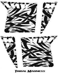 POLARIS RZR PRO ARMOR DOOR GRAPHICS KIT CREATORX DECALS