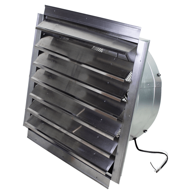 maxxair 24 heavy duty exhaust fan with integrated shutter if24 4100 cfm