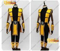 Scorpion Mortal Kombat 3 Cosplay Costume yellow outfit | eBay