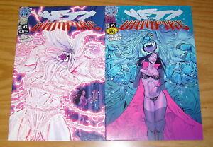 Yeti vs Vampire #1-2 VF/NM complete series - antarctic press - horror comics set