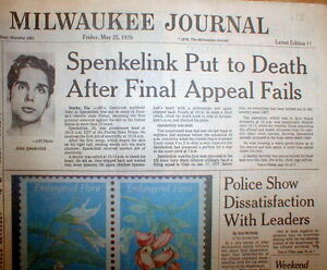 florida electric chair plastic covers 1979 hdln newspaper john spenkelink executed for murder details about