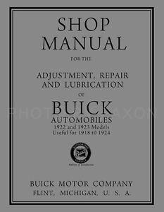 1922-1923 Buick Shop Manual 1918 1919 1920 1921 1924