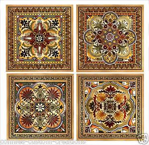 details about italian renaissance artistic backsplash decorative ceramic accent tiles 6 new