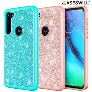 For Motorola Moto G Pro Luxury Glitter Bling Hybrid Shockproof Phone Case Cover