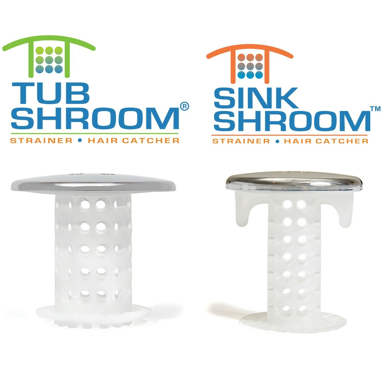 sinkshroom drain protectors hair catchers for bathtubs and sinks chrome
