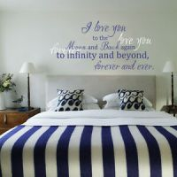 Romantic Art Wall Decal I love you to the Moon and Back ...