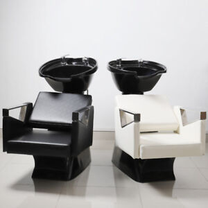 backwash chairs uk cheap kitchen table and chair sets cozy hair salon hairdressing barbers basin sink back wash image is loading