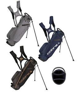 Cobra Mens Ultralight Sunday Golf Stand Bag - New 2021 - 3 Way Top 3.8 lbs