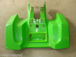 87 88 Kawasaki Tecate Atv 4 Green Rear Plastic Fender