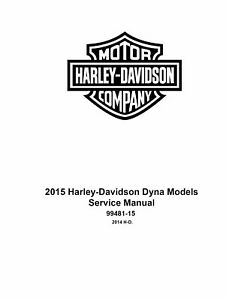 2015 Harley Davidson Dyna Models Factory Service Shop