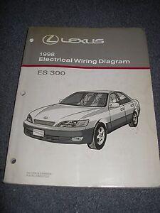 1998 LEXUS ES300 Electrical Wiring Diagram Service Manual | eBay