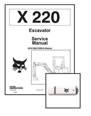 Bobcat X220 Excavator Workshop Repair Service Manual