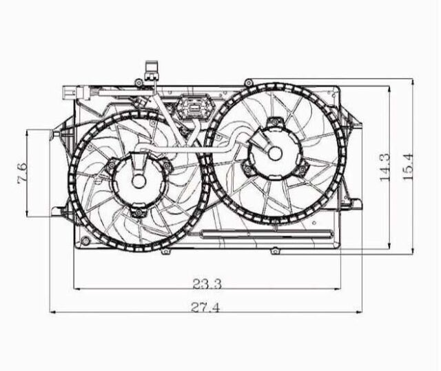 Dual Radiator and Condenser Fan Assembly-DOHC TYC 620720