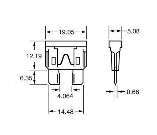 Fusibles, boîtes à fusibles 2 Pack 12 Gauge ATC In-Line