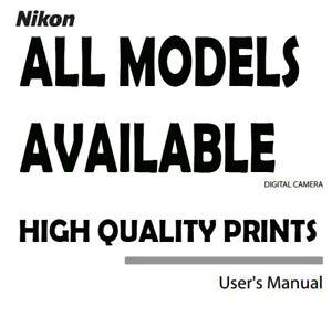 ALL Models New Nikon User Manual Guide Instruction