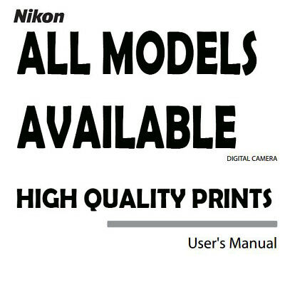 ALL Models New Nikon User Manual Guide Instruction