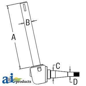 A-182560M92 Massey Ferguson Parts SPINDLE LH 40, 50 , 65