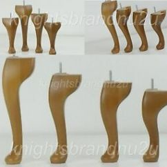 Replacement Chair Legs Xmas Dining Room Covers 4x Solid Wood Queen Ann Furniture Feet Chairs Image Is Loading