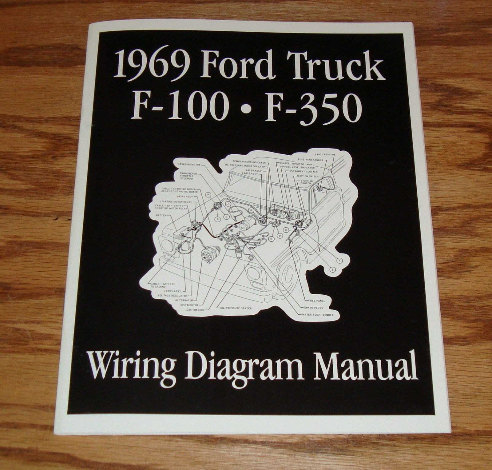 hight resolution of 1969 ford truck f100 f350 wiring diagram manual brochure 69 pickup