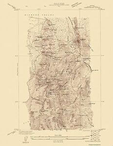 Topographical Map Print Eureka Mining District Nevada